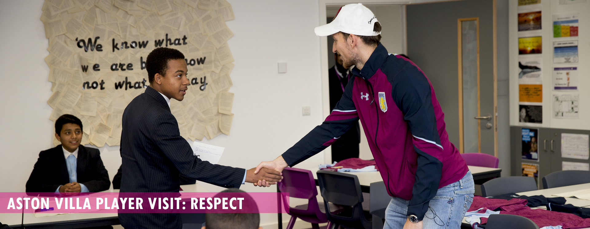 Aston Villa Player visit